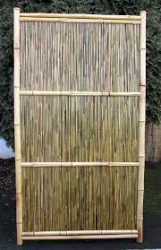 amazon com bamboo fence panel horizontal style garden u0026 outdoor