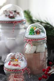 Decorate Mason Jars For Christmas Gifts by How To Make A Mason Jar Lid Snow Globe For Christmas Using A Clear