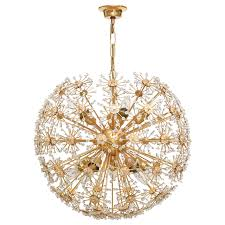 Chandeliers Modern Vintage Brass And Crystal Snowball Chandelier Pendant Lighting