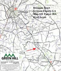 County Map Ga Screven County Ga 42 Acres Green Hill Land And Timber Llc