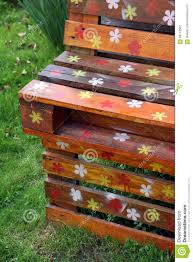 old wooden pallets and garden furniture stock photo image 68113562