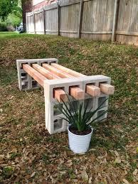 diy cinder block bench project 12 cinder blocks and 4 4
