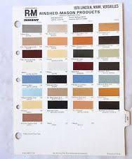 model paint colour chart ebay