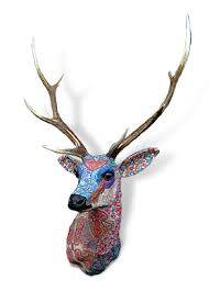 Stag Head Designs Liberty Stag Head Fabric Sculpture Animals Pinterest Stag