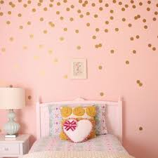 gold dots wall sticker baby nursery stickers decals home decor in
