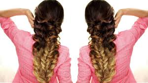 how to easy topsy braid hairstyle hair tutorial video