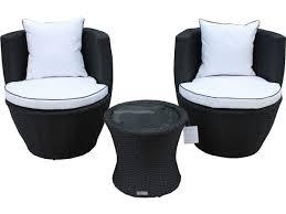 Outdoor Patio Furniture Orlando by Orlando Outdoor Rattan Stack Set Black