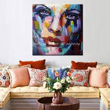 Art For Living Room by Aliexpress Com Buy Hand Painted Color Oil Painting On