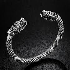 gold bangle bracelet men images Fashion cuff brace teen wolf head bracelet indian jewelry fashion jpg
