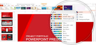 powerpoint design colors how to make powerpoint themes with a custom color palette slidemodel