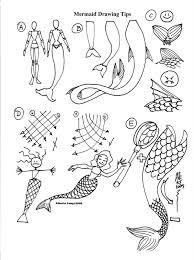 kid sketches mermaids sketching template