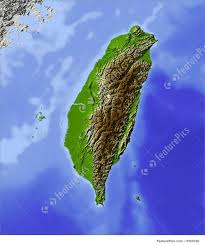 Map Of Taiwan Shaded Relief Map Of Taiwan Stock Illustration I1659780 At Featurepics