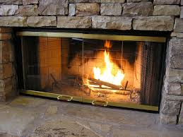 fireplace glass doors interior design