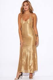 evening maxi dresses gold metallic embellished backless formal evening maxi dress la