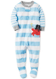 s s 1 pc striped crab footed pajamas baby boys 0 24