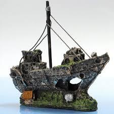 wreck sunk ship aquarium ornament sailing boat destroyer fish tank