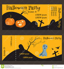ticket for halloween party two sided with a tear off portion