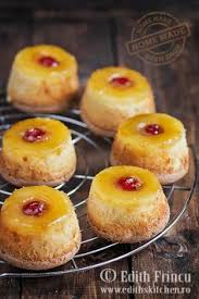 mini pineapple upside down cakes made in a cupcake pan treats