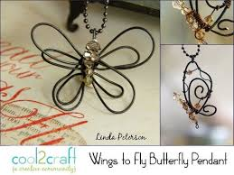 How To Make Jewelry Out Of Wire - how to make a bent wire butterfly pendant by linda peterson youtube