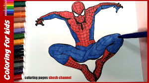 coloring pages for kids spiderman colouring pages from coloring
