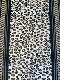 Leopard Print Runner Rug This Is A Wool Animal Print Carpet Remnant That Can Be Installed