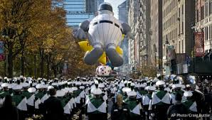 macy s parade rolls on with balloons bands security woodtv