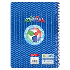 pj mask a5 notebook 80 sheets hard cover assorted ociostock