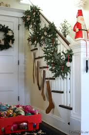 Banister Christmas Garland My Cozy Christmas Home Tour Kelly Elko