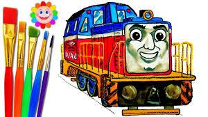 drawing kids thomas friends ivan racing engine train