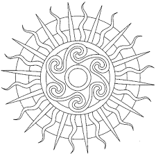 sun mandala coloring pages mandala coloring pages of