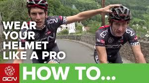 how to dress pro cyclingtips how to wear your helmet like a pro youtube