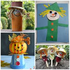 Homemade Scarecrow Decoration Scarecrow Crafts For Kids To Make This Fall Crafty Morning
