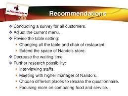 customer satisfaction in nando u0027s restaurant