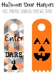 halloween bookmarks printable halloween door hangers free download wee share