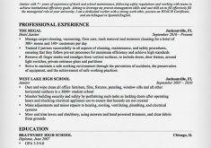 Sample Janitor Resume by Download Business Letter Format Cover Letter