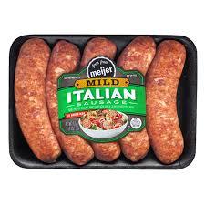 meijer bratwurst mild italian 19 oz meijer com