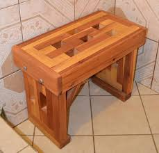 ana white redwood shower bench diy projects with cedar seat