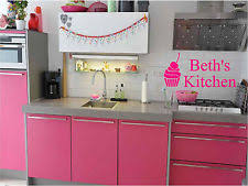 cupcake canisters for kitchen cupcake wall decal ebay