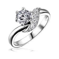 zasnubni prsteny silvego stříbrný zásnubní prsten shzr234 sperky cz