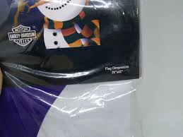 Harley Davidson Flags Harley Davidson Holiday Snowman Suede House Flag 29 X 43 Inches Ebay