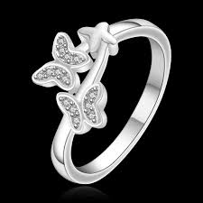 silver nice rings images Girls cute finger rings 2015 new jewelry 925 solid silver 7 8 jpg