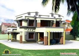 Duplex Building by Duplex House Elevation 2830 Sq Ft Home Appliance