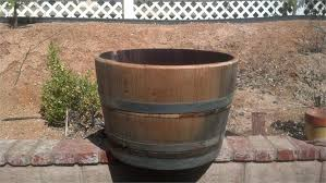 Half Barrel Planter by Used Half Wine Barrel Jpg