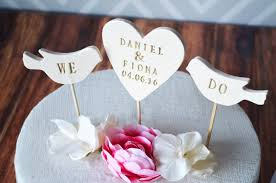 personalized heart wedding cake topper with first names and wedding da