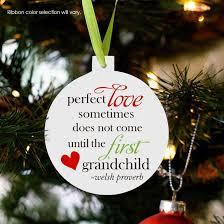 grandchild ornament announcing pregnancy