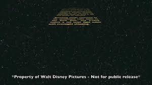 star wars episode vii opening crawl leaked