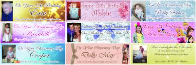 party banner personalised party banners ozzy and events
