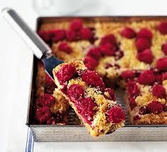 raspberry recipes raspberry almond traybake recipe bbc good food