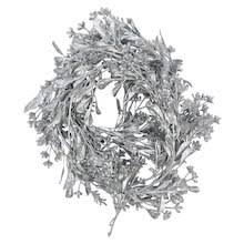 silver coiled metallic berry garland by ashland