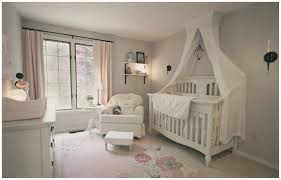 Ellery Round Crib by White Sheer Canopy Over Two Tone French Nursery Crib Canopy
